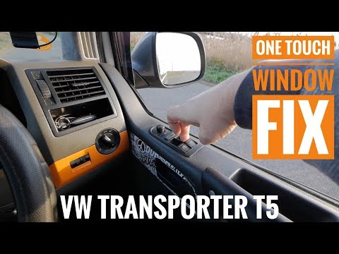 How to reset Automatic window one touch VW Transorter T5