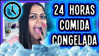 24 HORAS SÓ COMENDO COMIDA CONGELADA !!!