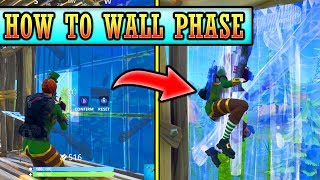 How to Wall Phase in Fortnite! (Glitch/Tips) PRO TIPS & TRICKS!