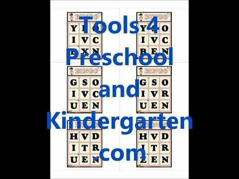 Bingo Basics   Beginning Letter Sounds 'tools for preschool' 'tools for kindergarten