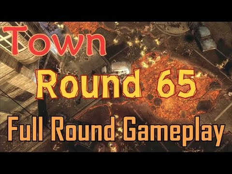 Town Round 65 Solo - Full Round Gameplay - Black Ops 2 Zombies