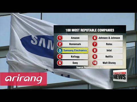 Samsung ranks 3rd most reputable company in world