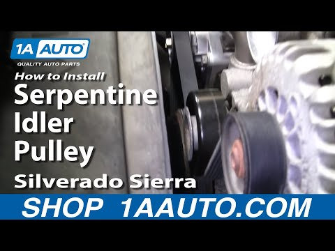 How To Install Replace Serpentine Idler Pulley Silverado Sierra Tahoe 4.8L 5.3L 6.0L 1AAuto.com