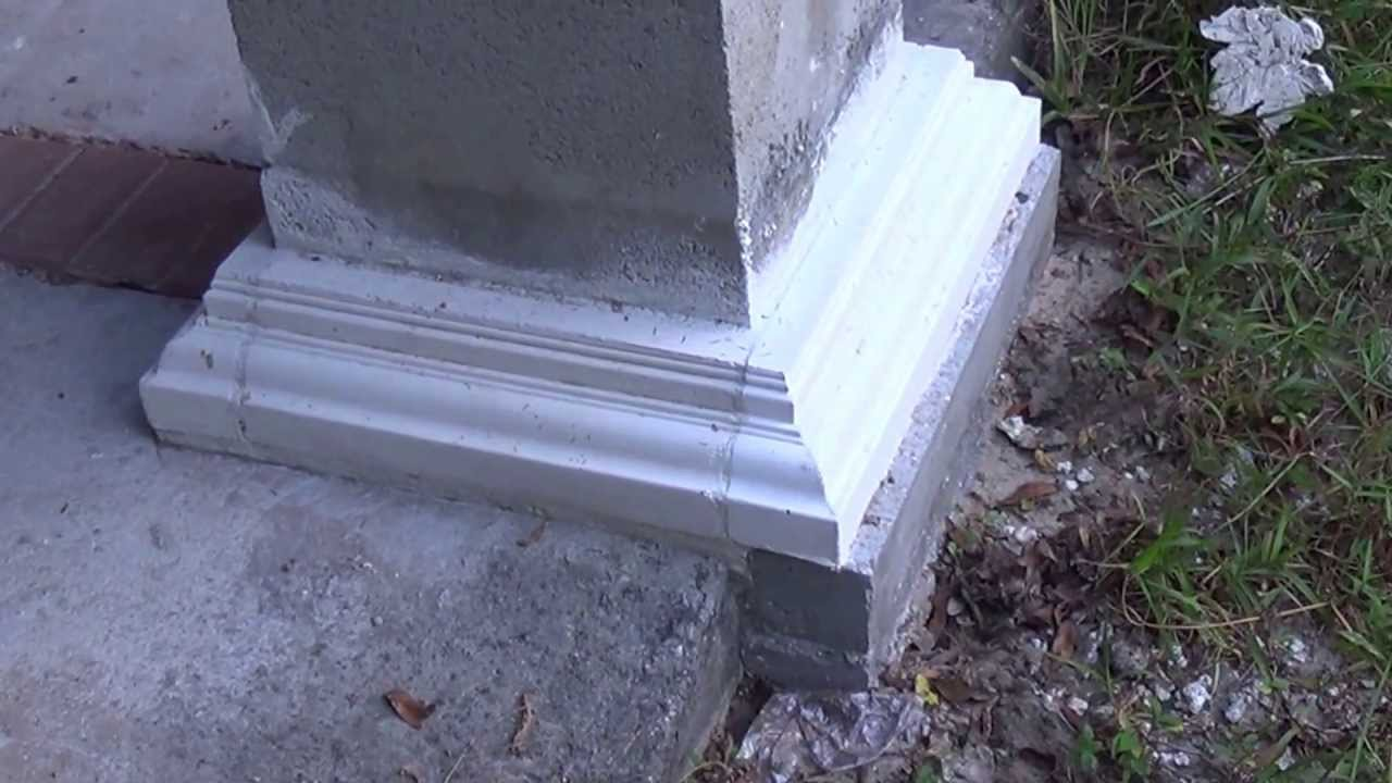 Concrete column base and crown molding 2 videos video 1 for Post and pillar foundation