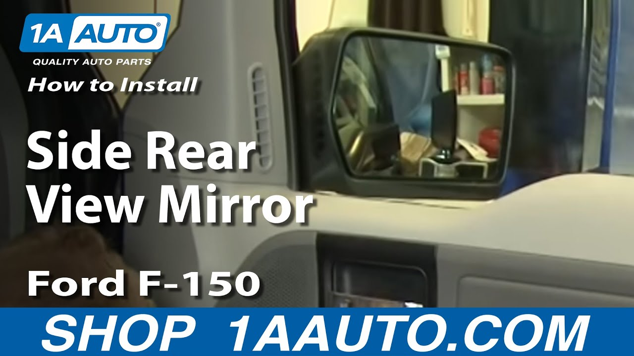 How To Install Replace Side Rear View Mirror Ford F 150 04