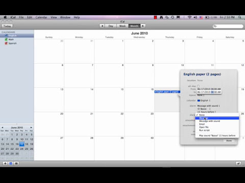 How to use iCal