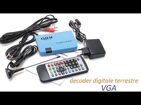 unboxing recensione e collegamento decoder digitale terrestre VGA per monitor PC
