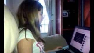 Samya singing a Miley Cyrus song