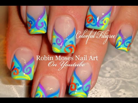 Diy Nail Art Designs - Colorful French Tips With A Twist Tutorial video