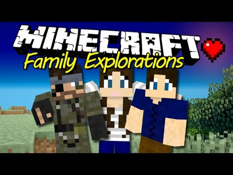 Minecraft Family Explorations - Ep 18:  Glass Towers Glitch