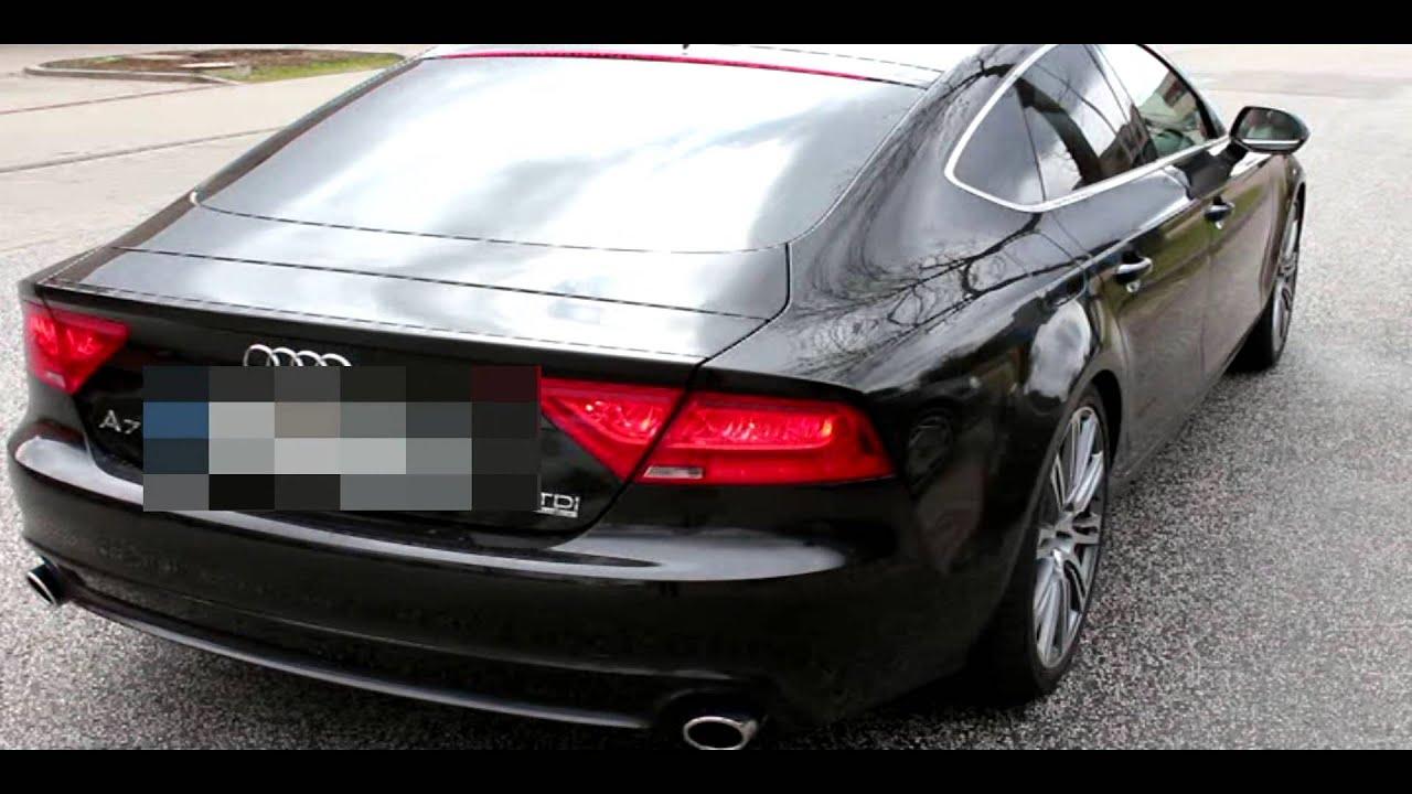 Audi A7 3.0 T >> Audi A7 3.0 TDI 245 HP Quattro + BiTurbo Sound System Exhaust (313HP Eberspächer) - YouTube