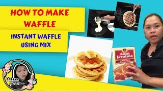 How to make waffle easy/Instant Waffle