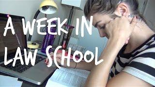 LAW SCHOOL VLOG | A Week in Law School