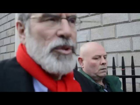 Gerry Adams talk about Immigrants, Refugees and Irish Citizenship