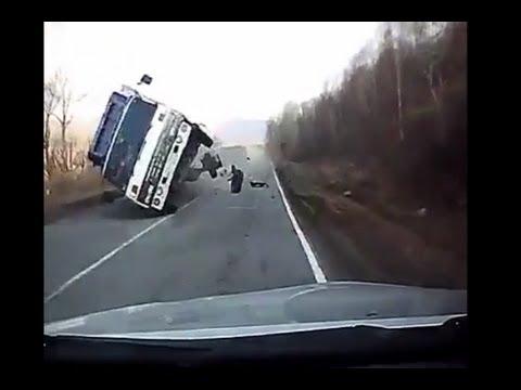 Car Flips a Truck