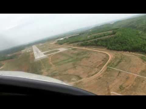 Landing At Branson, Missouri airport on April 17, 2010