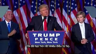 Bài diễn văn chiến thắng của Donald Trump 2016 hardsub