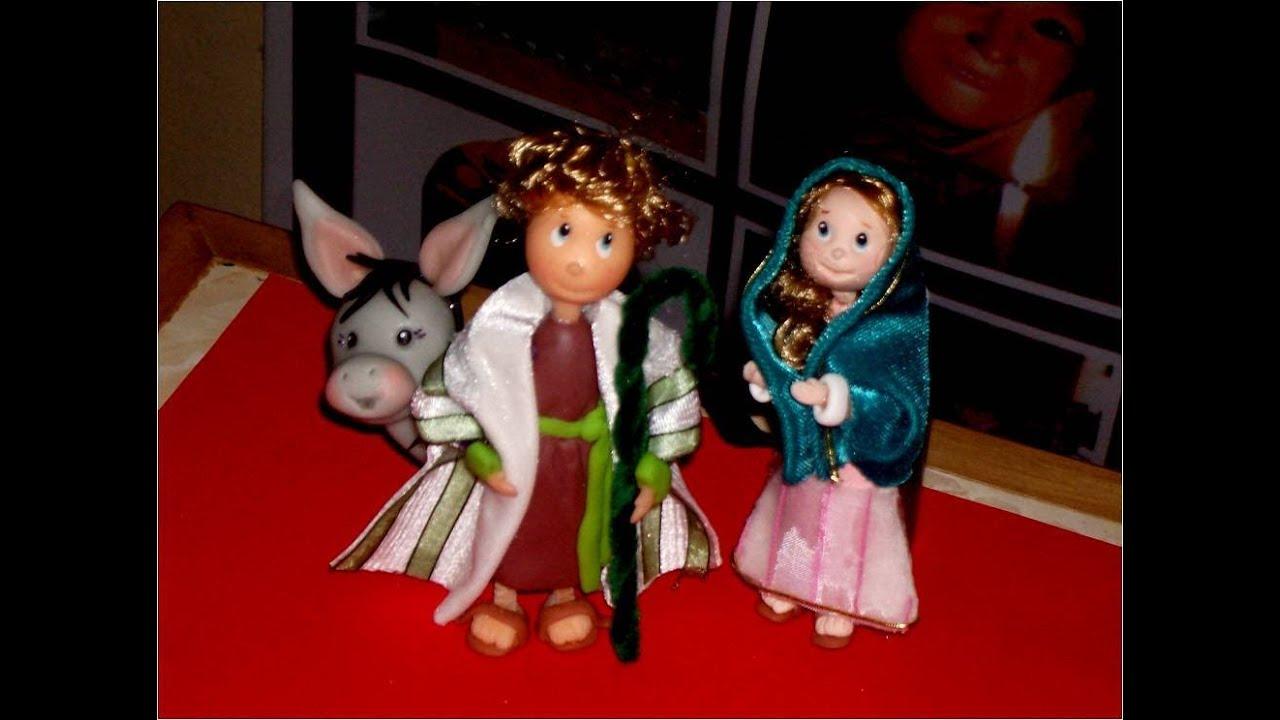 Manualidades navide as nacimiento de porcelana fr a youtube for Adornos navidenos en porcelana fria utilisima
