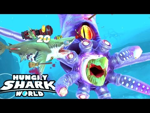 NEW COLOSSAL SQUID BOSS...!!! | Hungry Shark World | HSW Update New Boss