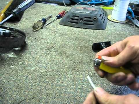 Lawn Mower Repair: Starter Pull Cord. Craftsman Eager 1. Alameda Repair Shop