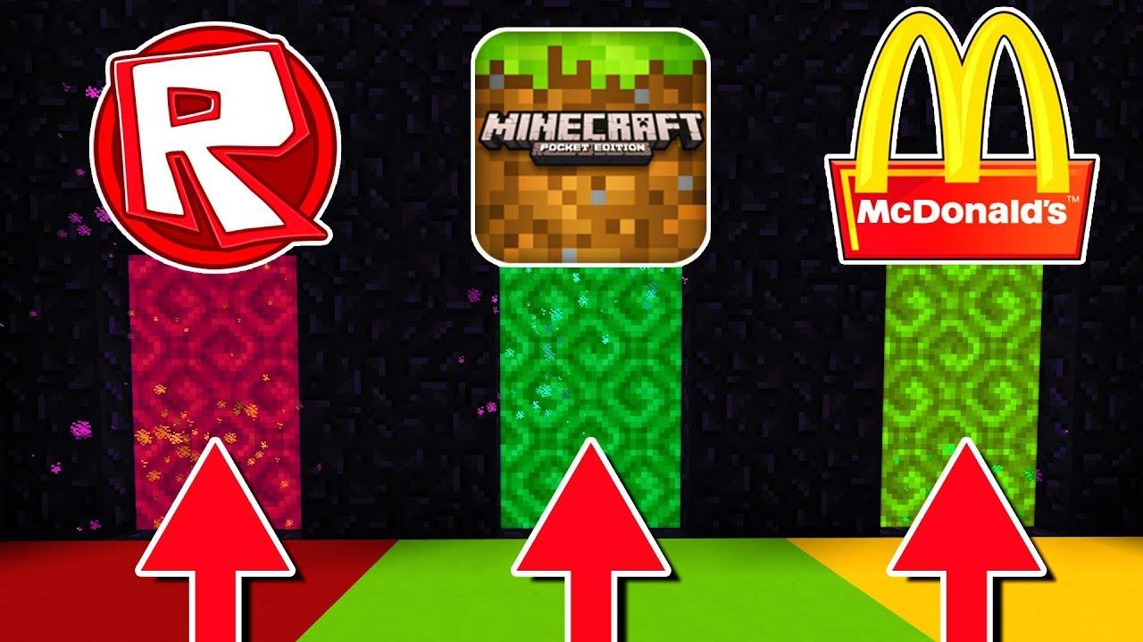 Do Not Choose The Wrong Portal (Roblox, Minecraft, McDonalds)