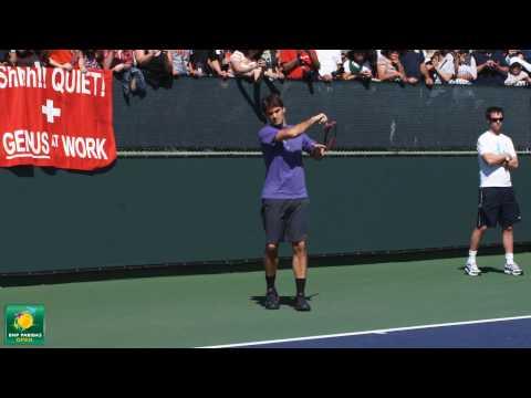 Roger Federer Slow Motion HD -- Indian Wells Pt. 01 Video