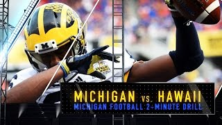 Michigan vs. Hawaii Football Preview - 2 Minute Drill
