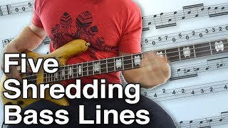 5 Shredding Bass Lines - Crank Up Your Speed With These Songs