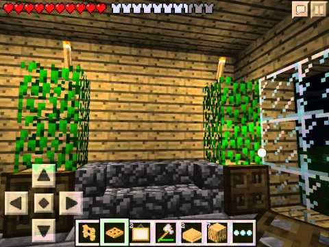Let's play Minecraft Pocket Edition #13 - Обустраиваем дом #1