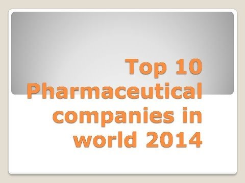 Top 10 Pharmaceutical companies in world 2014
