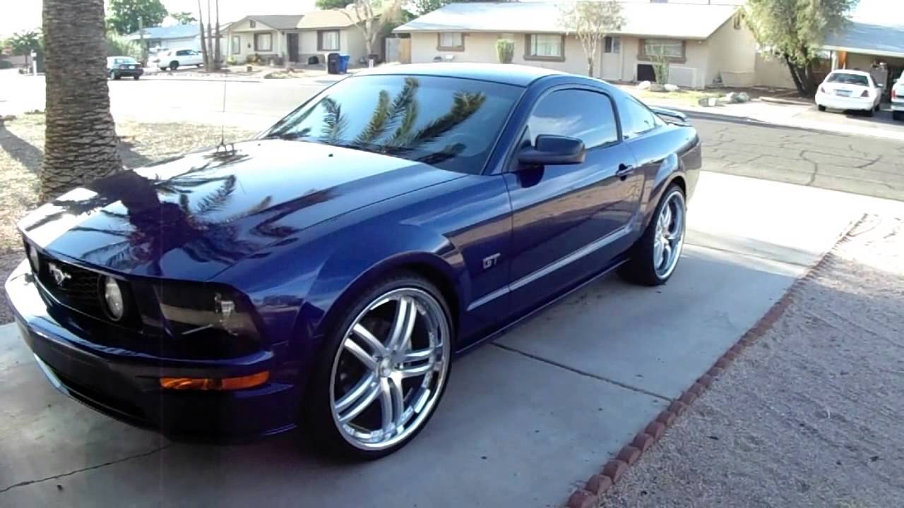 Mustang GT 22 Inche Wheels - YouTube