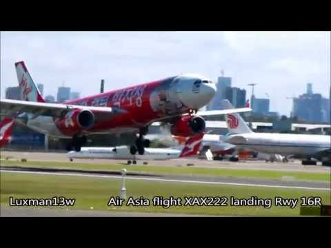 AIR ASIA A330-300 9M-XXO - THANK YOU CAPTAIN PARK - SYDNEY