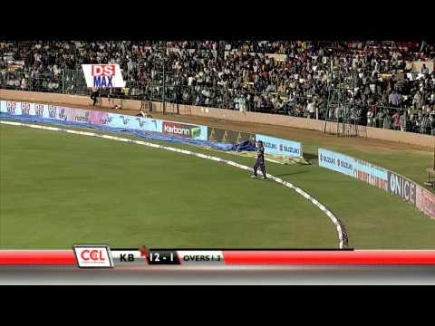CCL 4 Karnataka Bulldozers Vs Bengal Tigers Exciting 0 To 5 Overs