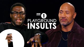 Dwayne Johnson and Kevin Hart Insult Each Other  CONTAINS STRONG LANGUAGE!