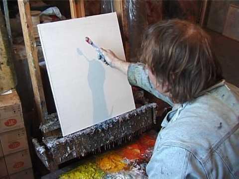 художник рисует картину:
