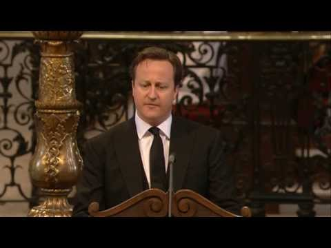 David Cameron reading at St Paul