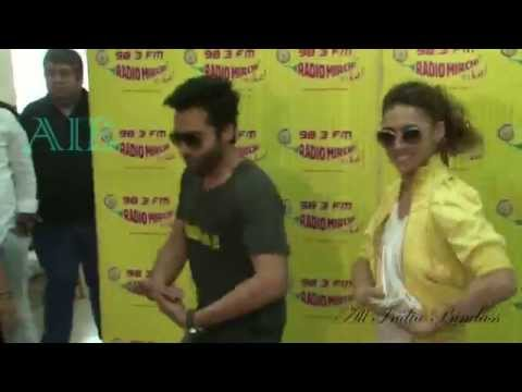 Jackky & Lauren Promote 'Welcome To Karachi' At Radio Mirchi - AIB