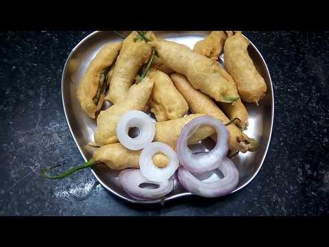 Spicy Mirchi bajji in Telugu