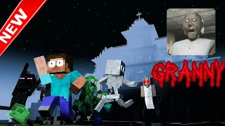 Monster School: GRANNY HORROR GAME CHALLENGE - Minecraft Animation (new)