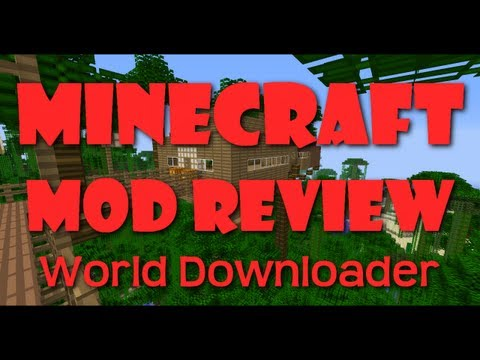 Minecraft Mod Review (World Downloader) Save the World Map of any Server