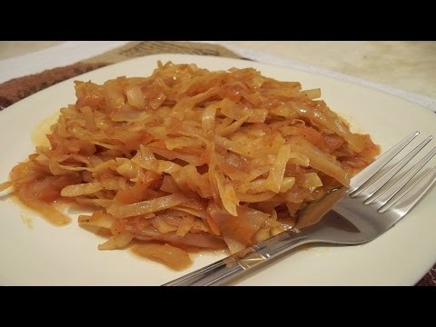 Как приготовить тушеную капусту. | How to cook cabbage stew.