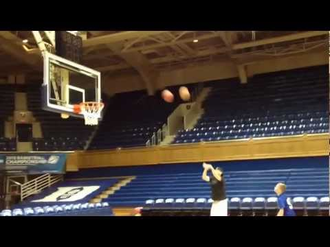 Duke Perfect Two Basketball Shot in Cameron Indoor Stadium