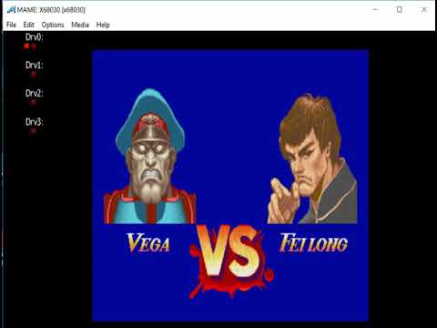Super Street Fighter 2 The New Challengers - Sharp X68000 - MAME MESSUI64 V0.171 Emulator