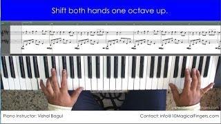 Hosh Walon Ko Khabar Kya Piano Tutorial by Vishal Bagul | 10 Magical Fingers