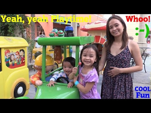 Outdoor Amusement Park: Hulyan & Maya's Disney Princess Kiddie Jumper Playtime + Kiddie Ride