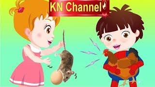 Hoạt hình KN Channel BÉ NA Bé ĐÙA GIỞN VỚI GÀ MẸ ĐANG ẤP TRỨNG | Hoạt hình Việt Nam