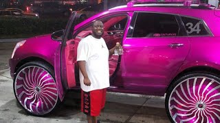 AceWhips.NET- Candy Pink Cadillac SRX on 34