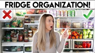 FRIDGE ORGANIZATION IDEAS **CLEAN WITH ME**