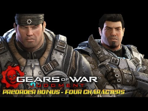 Gears of War Judgment - Preorder Bonus: Young Marcus and Dom. Anya and Alex Brand