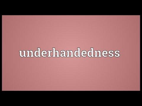 Header of underhandedness
